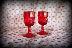 REDUCED Viking Georgian ruby red glassware Georgian by STUFFEZES