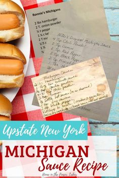 Recreate the Northern New York roadside stand staple in your own kitchen! This sauce is a key ingredient for an Upstate New York Michigan, which is a red hot (usually Glacier hot dog) on a New England Style Roll, with meat sauce and onions. Hot Dog Recipes, Chili Recipes, Sauce Recipes, Slow Cooker Recipes, Cooking Recipes, Michigan Hot Dog Sauce Recipe, Michigan Recipe, Upstate New York, Coney Dog Sauce
