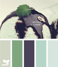 minted tones-- i love these colors...although, our house already has a lot of cool hues. might be time to mix it up.