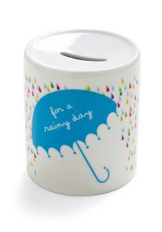 "Splash Money Bank- ""For a rainy day"" Vintage Toys, Retro Vintage, Rainy Day Fund, Rainy Days, Money Jars, Money Box, Cute Piggies, May Flowers, April Showers"