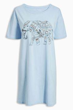 Blaues Nachthemd mit Elefanten-Muster heute online kaufen bei Next: Deutschland