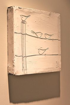 Canvas birds plaster. I love this.
