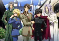Kyo Kara Maoh, I love anime where the character goes to another world.  But getting flushed in a toilet and ending up there...awkward...this anime is awesome because the characters are well written and the concepts seem backwards...there aren't many female characters and homosexuality is an acceptable form of life and hinted at throughout.