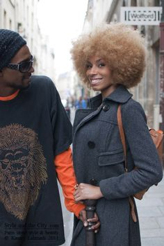 Blonde Afro   Big hair afro fashion style!  love love love! Awesome! All time old school swag!