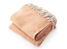Cotton herringbone throw available in 24 color varieties made in the USA by Brahms Mount