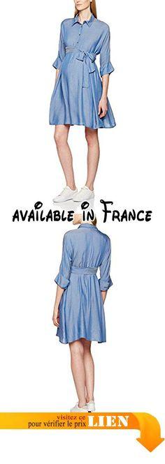 B01MAUVNL1 : Pietro Brunelli Ischia Robe de Maternité Femme Bleu (Light Jeans) FR: 40 (Taille Fabricant: L). Fashionable. Comfortable. Type de coupe:Chemise