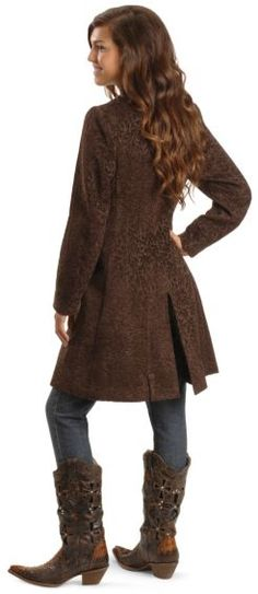 Scully Chenille Frock Coat - Sheplers