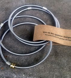 Restored Bass Strings Bangles | Jewelry Bracelets | eye on the sparrow | Scoutmob Shoppe | Product Detail