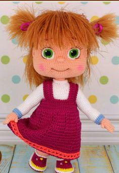 Amigurumi Knitting Toy Models - Amigurumi Masha Doll Making (Verstehen . - - Amigurumi Knitting Toy Models - Amigurumi Masha Doll Making (Verstehen . Crochet Doll Pattern, Crochet Dolls, Crochet Patterns, Amigurumi Toys, Amigurumi Patterns, Masha Doll, Diy Bebe, Diy Toys, Handmade Toys
