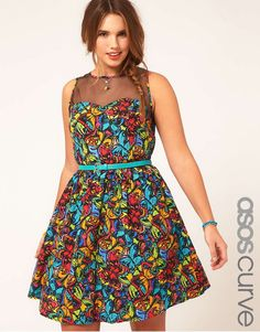 Curvy Glam Deal! ASOS Curve Butterfly Print Dress