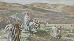 He Sent Them Out Two By Two by James Tissot {c.1886-96} ~ Jesus