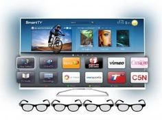 "Smart TV Slim LED 3D 55"" Philips 55PFG6519 Full HD - Conv. Integrado 3 HDMI 2 USB Wi-Fi 4 Óculos"