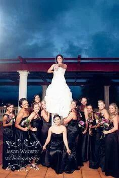 It would be fun to do with your brides maids if they were all cheerleaders