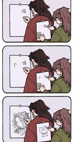Demon Slayer, Slayer Anime, Funny Memes Images, Funny Pictures, Otaku Anime, Anime Art, Dark Fantasy, Anime Boy Sketch, Thriller