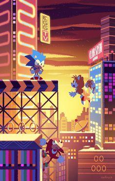 Sonic Mania Studiopolis by @oxfruit // https://twitter.com/oxfruit/status/896079606729498625