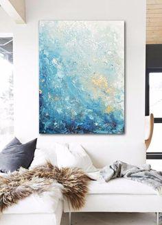 """Royal Coastal"" Giclee Abstract Canvas Painting"