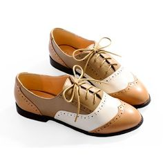 Classic Retro Flat Lace up Brown Party Event Dress Oxford Shoes Women SKU-1090576