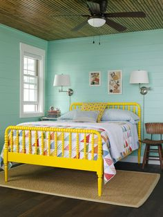 8 color rules to follow for a brighter happier home - Yellow Bed Frame