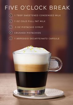 The name of this easy coffee recipe from Nespresso pretty much says it all. Coffee Truck, Coffee Cafe, Coffee Shop, Starbucks Coffee, Easy Coffee, I Love Coffee, Coffee Course, Espresso Drinks, Coffee Drinks