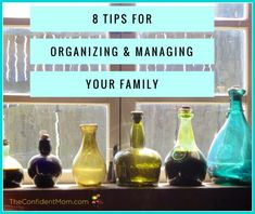 Check out these tips for organizing and managing your family. These are basic steps that can have a HUGE pay-off!