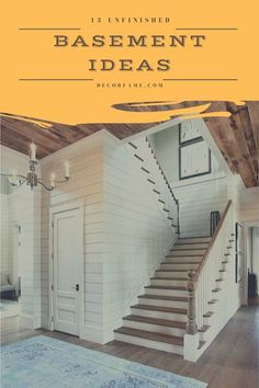 23 Unfinished Basement Ideas to Increase Your Home Value #unfinishedbasement Unfinished Basement Playroom, Basement Layout, Basement Ideas, Unfinished Basements, Open Shelving Units, Cinder Block Walls, Gym Room, Basement Makeover, Temporary Wall