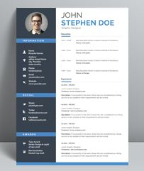 Buy Professional Resume Template by GraphicForestNet on GraphicRiver. Resume Design Template, Creative Resume Templates, Cv Template, Cv Profile Examples, Resume Examples, Resume Format Download, Best Resume Format, Resume Words, Resume Writing