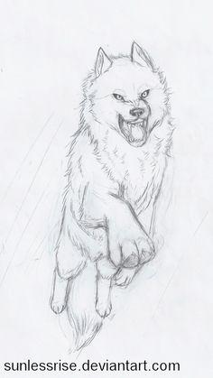 wolves drawings pose - Google zoeken