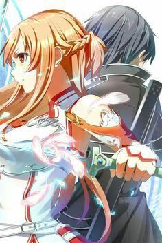 [Sword Art Online] Asuna / Kirito iPhone wallpaper by streeteelf on DeviantArt Kirito Asuna, Kirito Sword, Schwertkunst Online, Online Anime, Sword Art Online Asuna, Manga Anime, Tous Les Anime, Sword Art Online Wallpaper, Hotarubi No Mori