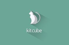Kitcube | Double concept #logo #design, #flat #LongShadow