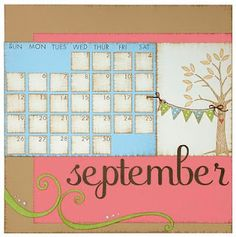 September calendar idea from #CTMH.