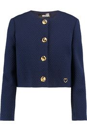 Love Moschino Cropped quilted jersey jacket