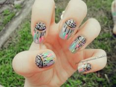 Dreamcatcher nails...caayuuute