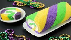 mardi gras king cake roll