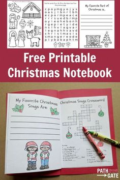 Keep Your Kids Occupied In The Car At Church Or A Relatives House With This Delightful Christmas Notebook Activity