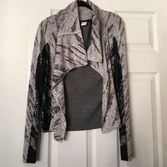 bcbg max azria sweater draped marble print jacket - Bcbg Sample Sale