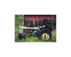 John Deere Decor Vintage Tractor Print Old Tractor by MollysMuses,