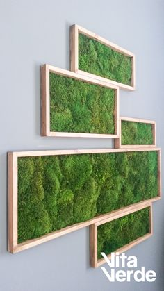 decorate your living space but dont have much room Our decorations go vertical Place one of our moss art pieces on your wall and enjoy the calmness of deep forests inside. Moss Wall Art, Moss Art, Plant Wall, Plant Decor, Moss Decor, Vertical Garden Wall, Deco Table, Wall Design, Garden Design