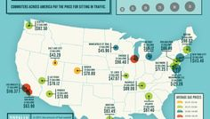 What Does Traffic Cost You? A Visual Guide to How Much Commuters Pay to Sit in Traffic :: Mint.com/blog