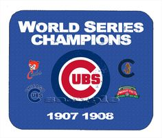 Item#354 Chicago Cubs Championship Distressed Banner Mouse Pad #ChicagoCubs