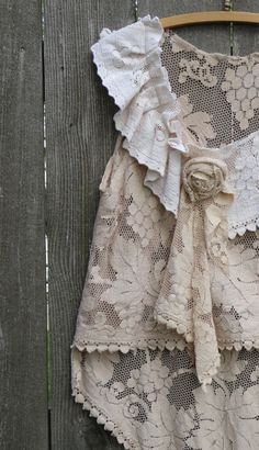 RESERVED Bohemian Rhapsody Romantic Lace Tunic by NestHavenStudio, $48.00