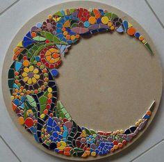 """Mosaic Art Diverse City Series piece by ringmosaics on EtsyHouse mosaics on stairs create streets!""""Around the Town"""" - as I call it - mosaic - Salvabrani Mosaic Tile Art, Mosaic Artwork, Mirror Mosaic, Mosaic Crafts, Mosaic Projects, Mosaic Glass, Glass Art, Stained Glass, Mosaic Tile Table"""
