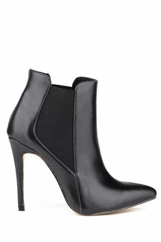 elastic stiletto heel pointed toe boots