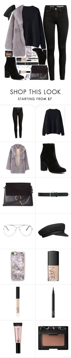 """""""Baby it's cold outside"""" by kueenly ❤ liked on Polyvore featuring WithChic, TIBI, Witchery, Chloé, M&Co, NARS Cosmetics and Beauty Rush"""