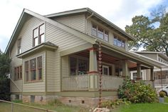 Example of how to expand 2nd floor at rear of house.(craftsman exterior by Winn Design & Remodeling)