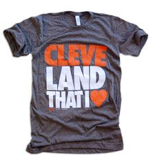 GV Art and Design - Cleveland Browns T Shirt - Land That I Love - Coffee