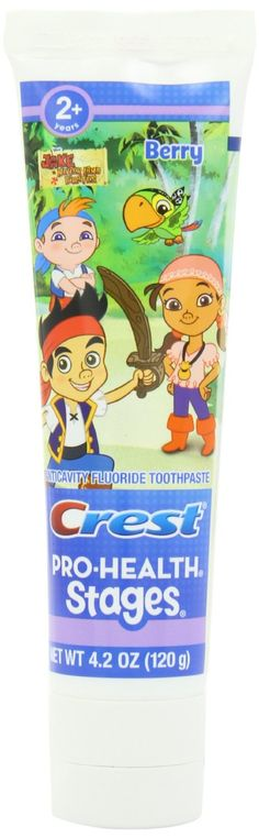 Amazon.com: Crest Pro-Health Stages Jake And The Neverland Pirates Kid's Toothpaste 4.2 Oz: Health & Personal Care