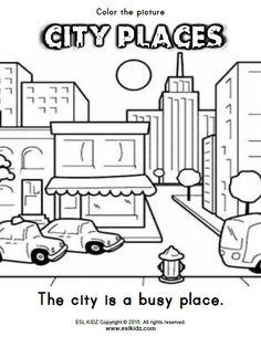 city places classroom center bundle city places activities for kids kids math worksheets. Black Bedroom Furniture Sets. Home Design Ideas