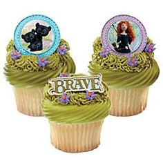 Brave Cupcake Rings (12 Pack) | Our Price: $2.99 http://www.discountpartysupplies.com/party-items/birthday-cake-decorations/cupcake-rings/brave-cupcake-rings.html
