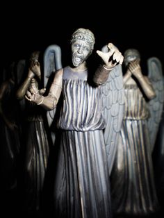 "Weeping Angels in Doctor Who. ""Blink"" is defo in my top five episode list. 11th Doctor, Doctor Who, Bae, Fandoms, Don't Blink, Torchwood, Geronimo, Bad Wolf, Cosplay"