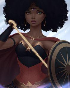 "387 Likes, 10 Comments - Venus Bambisa (@venusbambisa) on Instagram: ""Garnet and Wonder Woman mash up #illustration #drawing #afropunk #stevenuniverse #wonderwoman…"""